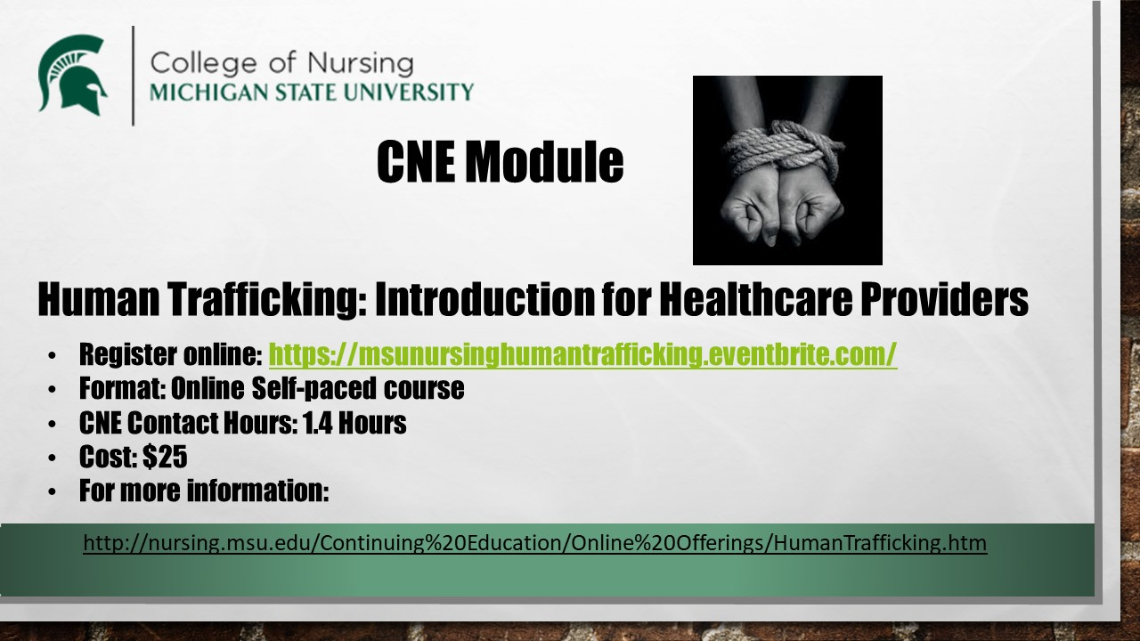 Human Trafficking for Nurses CNE